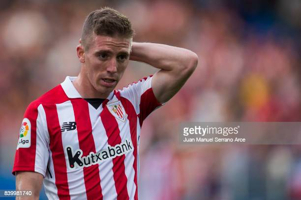 Iker Muniain of Athletic Club reacts during the La Liga match between Eibar and Athletic Club Bilbao at Estadio Municipal de Ipurua on August 27 2017...