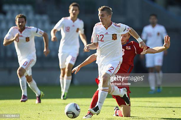 Iker Muniain of Spain during the UEFA European Under21 Championship Group B match between Czech Republic and Spain at the Viborg Stadium on June 15...