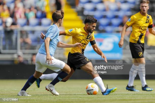 Iker Pozo of EDS Team Manchester City Mounir El Allouchi of NAC Breda during the Preseason Friendly match between NAC Breda and EDS Team Manchester...