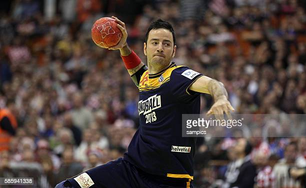 Iker ROMERO Handball Männer Europameisterschaft 2012 in Serbien Hauptrunde : Spanien - Kroatien 10 th mens european championchip in Serbia mainround...