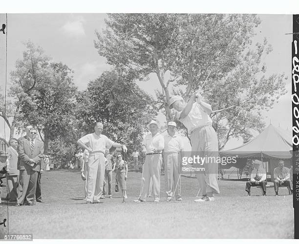 Ike's Active Sports Life Golf Denver Colorado President Eisenhower was always interested in active sports He is pictured here making a shot at the...