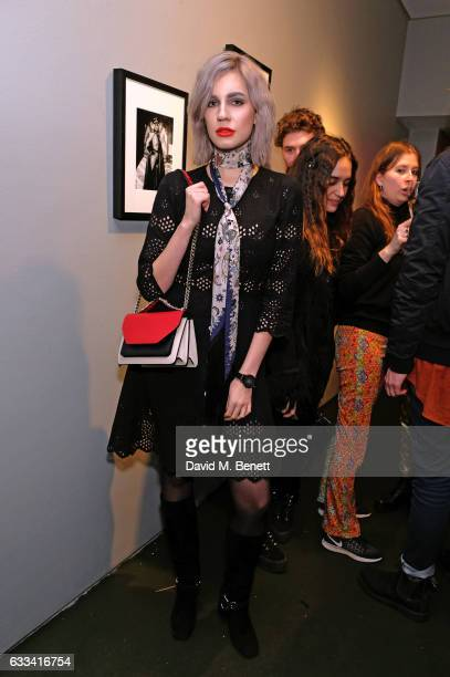 ikita Andrianova attends a private view of 'A Paul Raymond Show' an exhibition curated by Alex Wood and India Rose James at Soho Revue on February 1...