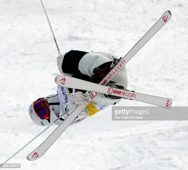 Ikuma Horishima competes in the Men's Mogul on day two of the 38th All Japan Ski Championships Freestyle at Bankei Ski Resort on March 18 2018 in...