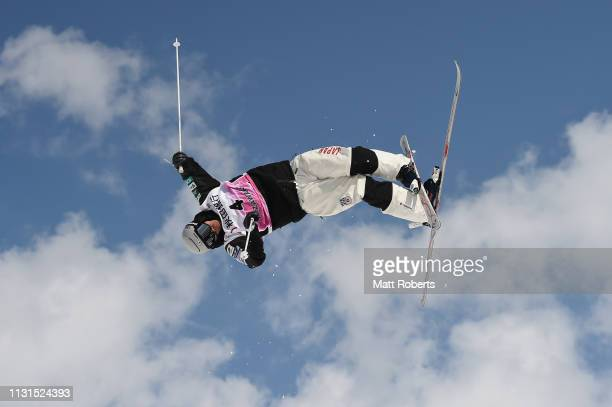 Ikuma Horishima of Japan competes during day one of the Men's FIS Freestyle Skiing World Cup Tazawako on February 23 2019 in Senboku Akita Japan