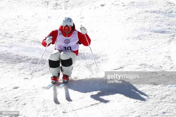Ikuma Horishima of Japan competes during the Men's Dual Moguls on day two of the FIS Freestyle Ski and Snowboard World Championships 2017 on March 9...