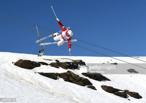 Ikuma Horishima of Japan competes on the way to winning the gold medal in the Men's Dual Moguls on day two of the FIS Freestyle Ski and Snowboard...