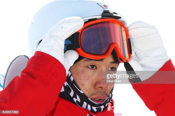 Ikuma Horishima of Japan looks on during the Men's Moguls big final on day one of the FIS Freestyle Ski Snowboard World Championships 2017 on March 8...