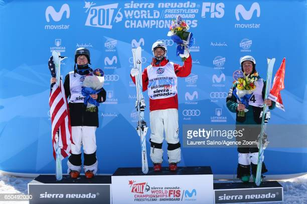 Ikuma Horishima of Japan wins the gold medal Bradley Wilson of USA wins the silver medal Marco Tade of Switzerland wins the bronze medal during the...