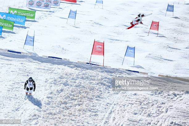 Ikuma Horishima of Japan wins the gold medal, Wilson Bradley wins the silver medal during the FIS Freestyle Ski & Snowboard World Championships Dual...