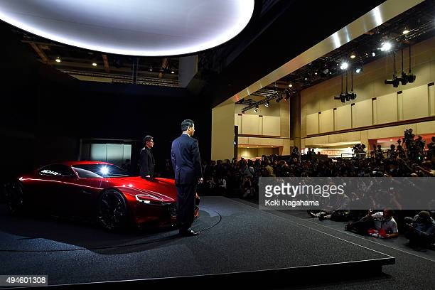Ikuo Maeda Executive Officer Design Chief Mazda Motor Corporation and Masamichi Kogai Representative Director and President and CEO Mazda Motor...