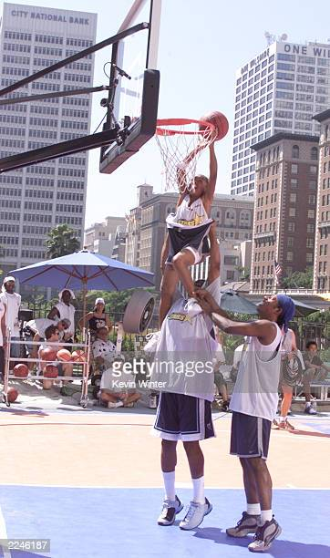 L'il Bow Bow gets a lift from Master p and Orlando at MTV's 'Celebrity Slam' taped in Los Angeles Ca 9/17/00 EXCLUSIVE Photo by Kevin...