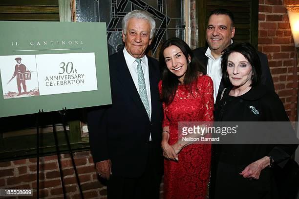 Il Cantinori's owners Steve Tzolis Nicola Kotson Frank Minieri and Food Bank's Carol Schneider attend Il Cantinori's 30th Anniversary Celebration to...