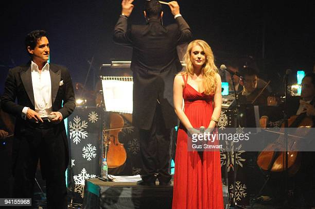 Il Divo and Camilla Kerslake perform on stage at Hammersmith Apollo on December 8, 2009 in London, England.
