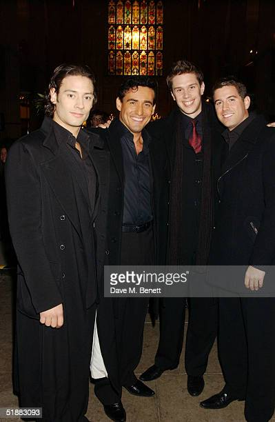 Il Divo attends the NordoffRobbins Christmas Carol Concert an annual concert in aid of the music therapy charity at St Luke's Church on December 20...