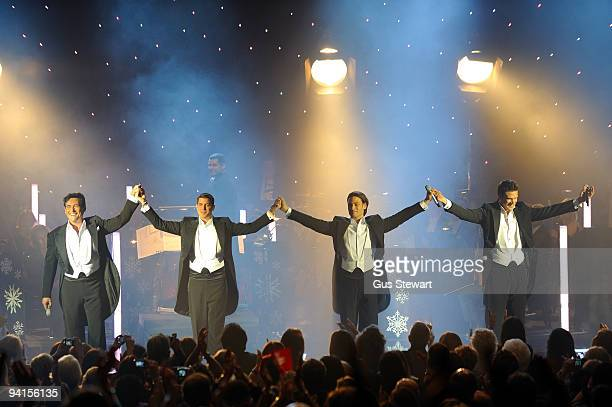 Il Divo take a bow on stage at Hammersmith Apollo on December 8, 2009 in London, England.