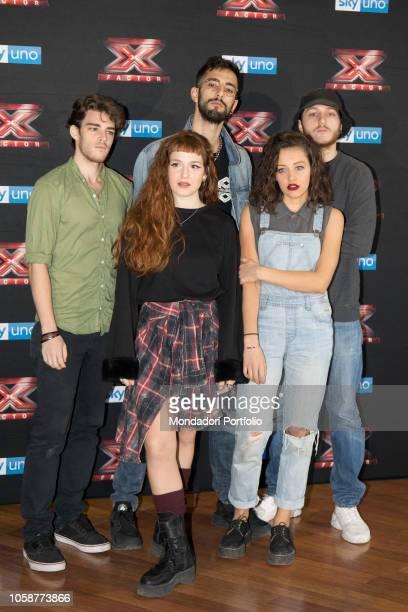 Il gruppo italiano Seveso Casino Palace alla press conference of X Factor 2018 with the presence of coaches competitors and presenters of Xtra Factor...