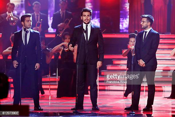 Il Volo during the tv show 'Willkommen bei Carmen Nebel' at Velodrom on October 1 2016 in Berlin Germany