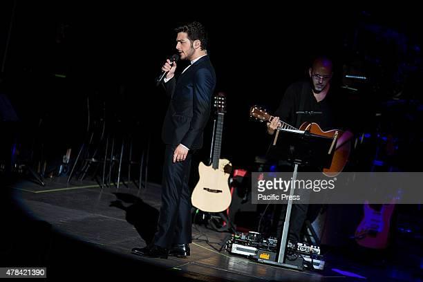 Il Volo' the Italian operatic pop trio consisting of tenors Piero Barone and Ignazio Boschetto and Baritone Gianluca Ginoble performs in a sold out...