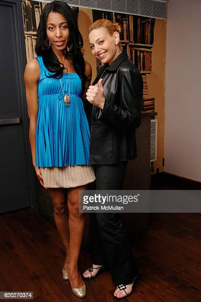 Ila Nicholson and Janet Miranda attend SOCIAL LIFE Magazine Cover Party Sponsored by SARAR and PERONI at Soho House Library on April 24 2008 in New...
