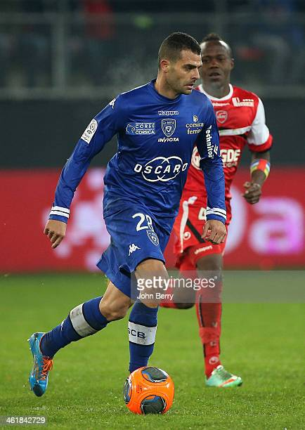 Ilan Araujo Dall'igna of Bastia in action during the french Ligue 1 match between Valenciennes FC and SC Bastia at the Stade du Hainaut on January 11...