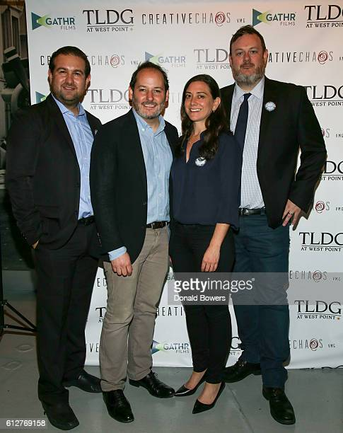 Ilan Arboleda Tom Donahue Jill Schweitzer and Matt Tyson attend The NY Theatrical Premiere Of Documentary Thank You For Your Service Aboard the SS...