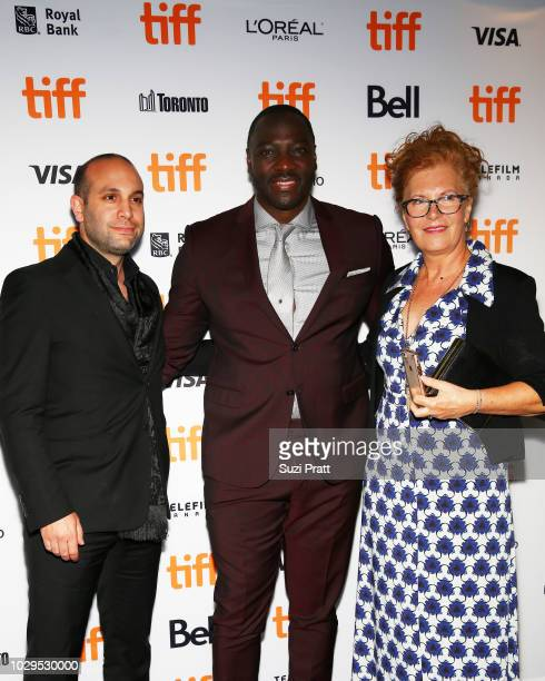 Ilan Eshkeri Adewale AkinnuoyeAgbaje and guest attend the 'Farming' premiere during 2018 Toronto International Film Festival at Scotiabank Theatre on...