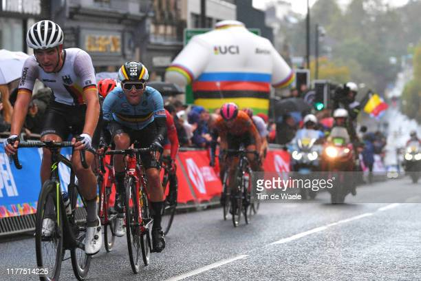 Ilan Van Wilder of Belgium / during the 92nd UCI Road World Championships 2019 Men Under 23 Road Race a 173km race from from Doncaster to Harrogate...