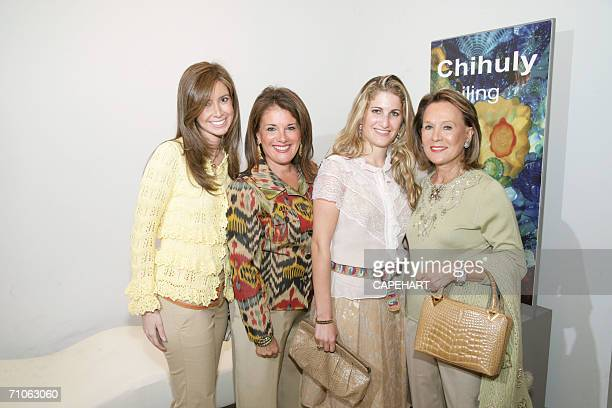 Ilana Blitzer Lori Gendelman Juliana Gendelman and Dorothy Kohl arrive at the Norton Museum of Art during a luncheon honoring the chairwomen of the...