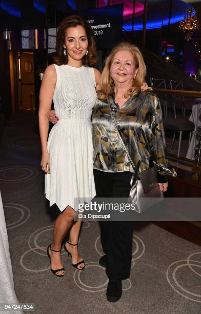 Ilana D Weinstein and Giselle Weinstein the Lincoln Center Alternative Investment Industry Gala on April 16 2018 at The Rainbow Room in New York City
