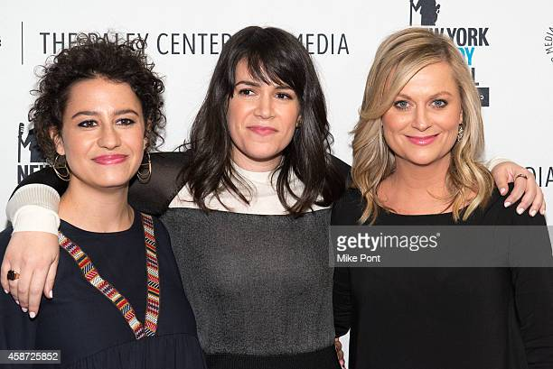 Ilana Glazer Abbi Jacobson and Amy Poehler attend the Id Isn't Always Pretty An Evening With Broad City Panel Discussion at The Paley Center for...