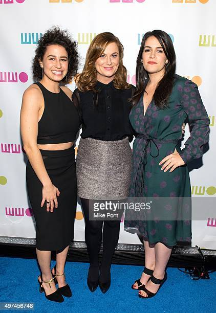 Ilana Glazer Amy Poehler and Abbi Jacobson attend the 2015 Worldwide Orphan Gala at Cipriani Wall Street on November 16 2015 in New York City
