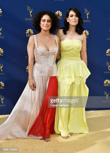 Ilana Glazer and Abbi Jacobson attend the 70th Emmy Awards at Microsoft Theater on September 17, 2018 in Los Angeles, California.