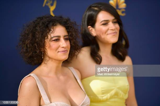 Ilana Glazer and Abbi Jacobson attend the 70th Emmy Awards at Microsoft Theater on September 17 2018 in Los Angeles California