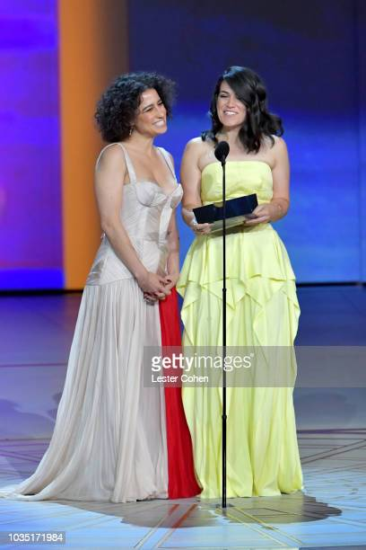 Ilana Glazer and Abbi Jacobson present onstage during the 70th Emmy Awards at Microsoft Theater on September 17 2018 in Los Angeles California