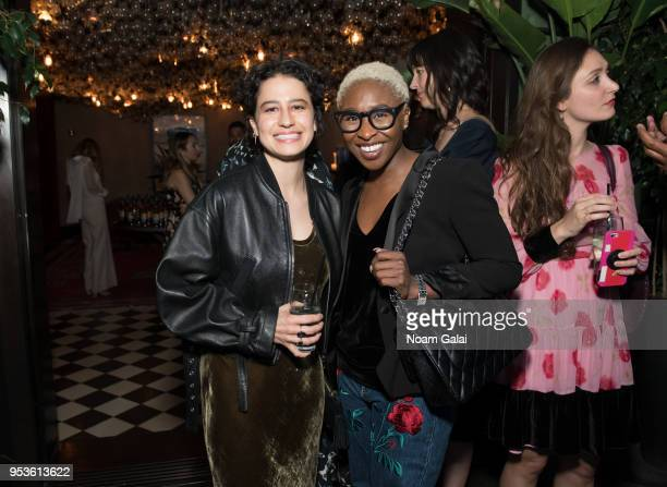 Ilana Glazer and Cynthia Erivo attend the Brilliant Minds Initiative dinner at Gramercy Park Hotel Rooftop on May 1 2018 in New York City