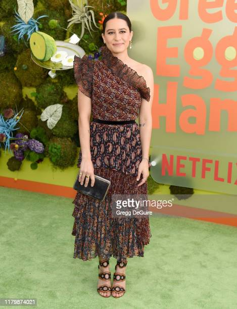 """Ilana Glazer arrives at the Premiere Of Netflix's """"Green Eggs And Ham"""" at Hollywood American Legion on November 3, 2019 in Los Angeles, California."""
