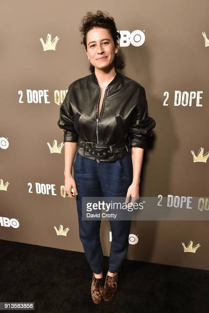 Ilana Glazer attends HBO's '2 Dope Queens' Los Angeles Slumber Party Premiere at NeueHouse Hollywood on February 2 2018 in Los Angeles California