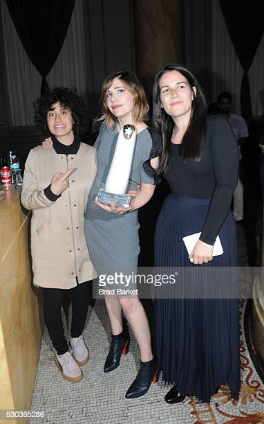 Ilana Glazer Carrie Brownstein and Abbi Jacobson attend Oh You Pretty Things The 2016 Moth Ball Celebrating All Things Glam And Rock Honoring Carrie...