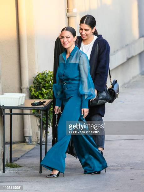 Ilana Glazer is seen arriving at 'Jimmy Kimmel Live' on January 14, 2020 in Los Angeles, California.