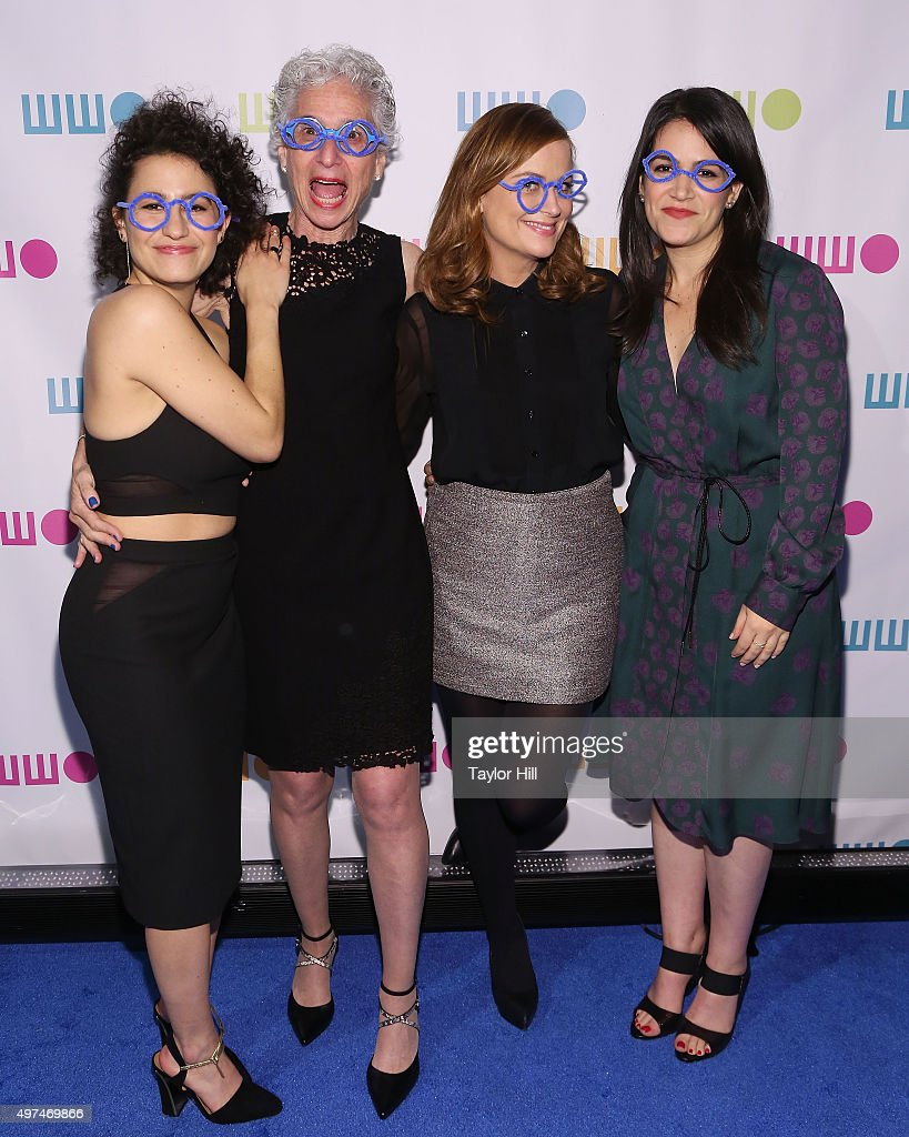 Ilana Glazer, Jane Aronson, Amy Poehler, and Abbi Jacobson attend Worldwide Orphans 11th Annual Gala at Cipriani on November 16, 2015 in New York City.