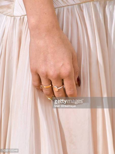 Ilana Glazer jewelry detail attend the 70th Emmy Awards at Microsoft Theater on September 17 2018 in Los Angeles California
