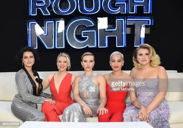 Ilana Glazer Kate McKinnon Scarlett Johansson Zoe Kravitz and Jillian Bell attend New York Premiere of Sony's ROUGH NIGHT presented by SVEDKA Vodka...