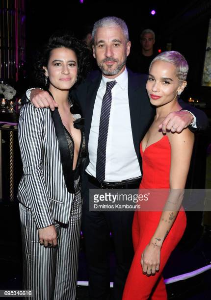 Ilana Glazer Matthew Tolmach and Zoe Kravitz attend the after party for the 'Rough Night' Premiere at Diamond Horseshoe on June 12 2017 in New York...