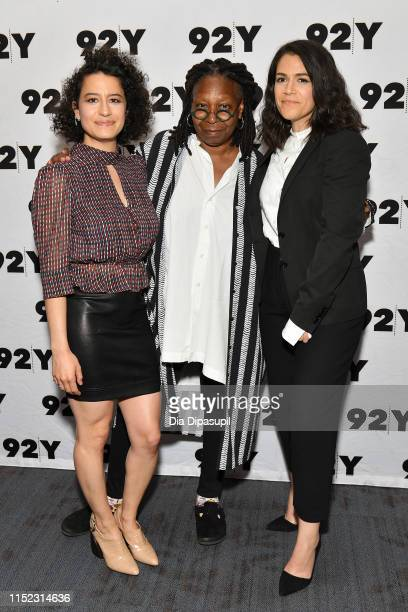 Ilana Glazer Whoopi Goldberg and Abbi Jacobson attend Abbi Jacobson Ilana Glazer in Conversation with Whoopi Goldberg at 92nd Street Y on May 28 2019...