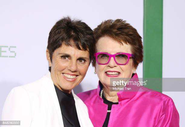 Ilana Kloss and Billie Jean King arrive at the Los Angeles premiere of Fox Searchlight Pictures' Battle Of The Sexes held at Regency Village Theatre...