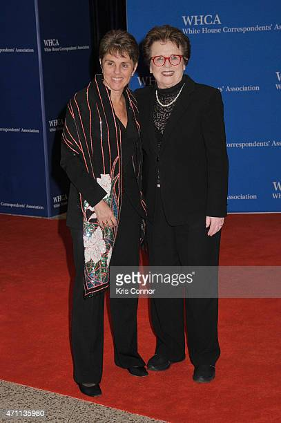 Ilana Kloss and Billie Jean King attend the 101st Annual White House Correspondents' Association Dinner at the Washington Hilton on April 25 2015 in...