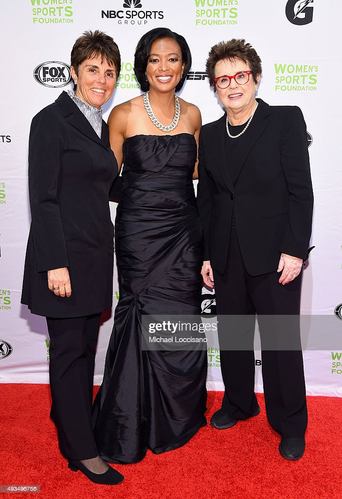 Ilana Kloss, Angela Hucles, and Billie Jean King attend the 36th Annual Salute to Women In Sports at Cipriani Wall Street on October 20, 2015 in New York City.