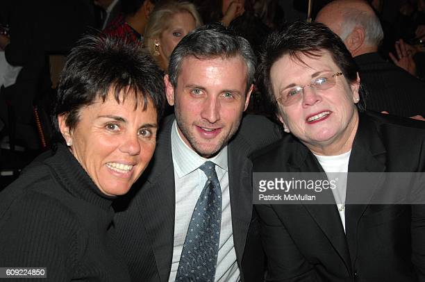 Ilana Kloss Dan Abrams and Billie Jean King attend Amazing Grace Screening arrivals and afterdinner at Cinema 1 and Le Cirque NYC on February 12 2007