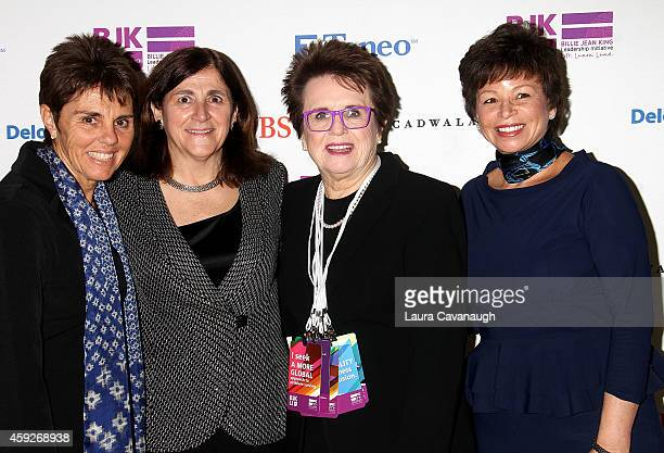 Ilana Kloss Gracia Martore Billie Jean King and Valerie Jarrett attend the Billie Jean King Leadership Initiative Gala at Powerhouse at The American...