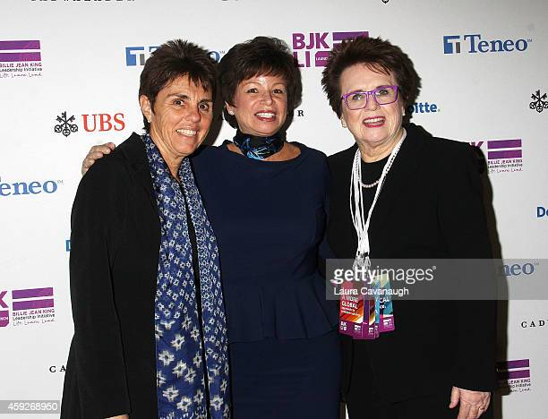 Ilana Kloss Valerie Jarrett and Billie Jean King attend the Billie Jean King Leadership Initiative Gala at Powerhouse at The American Museum of...